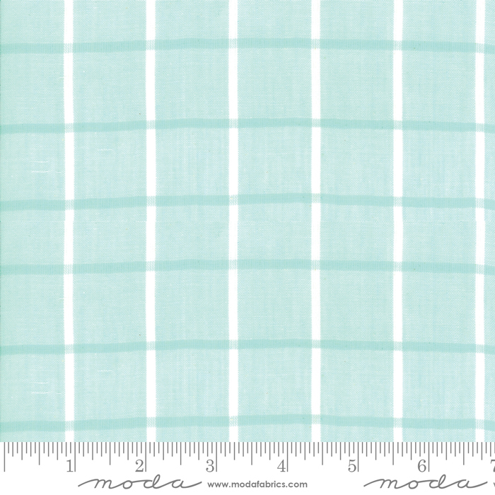 Moda Bonnie Camille Windowpane Aqua 12405 14 Yardage