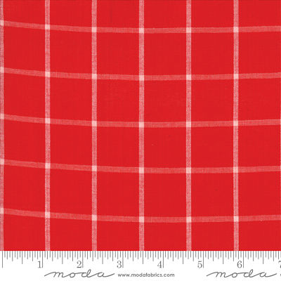 Moda Bonnie Camille Windowpane Red 12405 16 Yardage