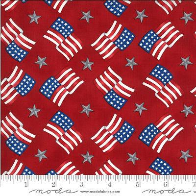 Moda America Beautiful Barnwood Red 19986 11 Yardage