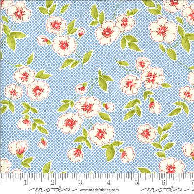 Moda Figs Shirtings Cornflower 20390 12 Yardage