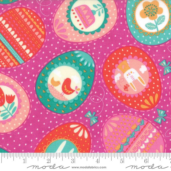 Moda Spring Bunny Fun Petunia 20542 17 Yardage