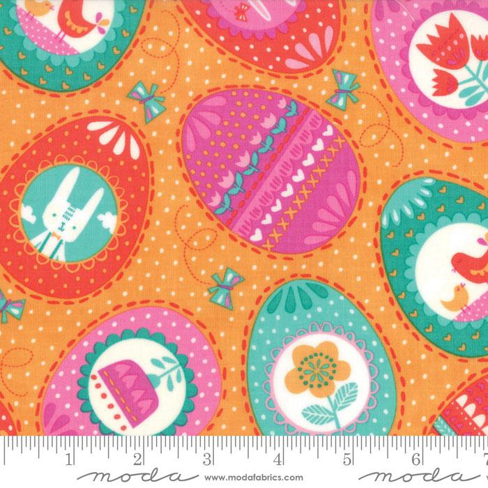 Moda Spring Bunny Fun Apricot 20542 18 Yardage