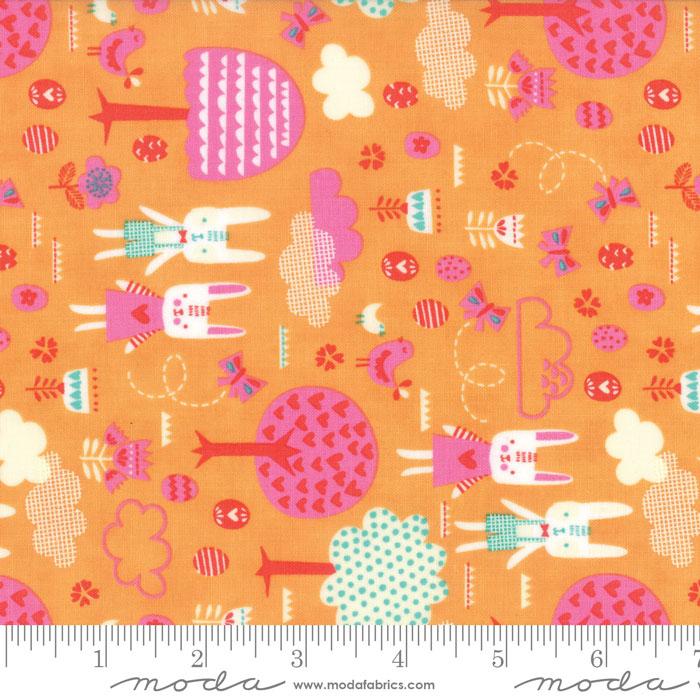 Moda Spring Bunny Fun Apricot 20543 18 Yardage