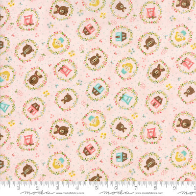 Moda Home Sweet Home Pink 20573 12 Yardage