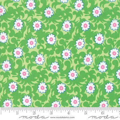 Moda Flower Sacks Green 22354 13 Yardage