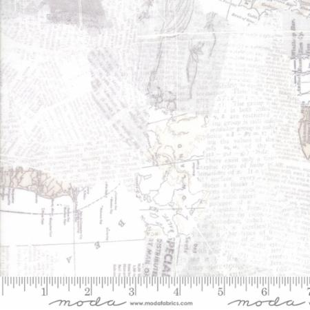 Moda Compositions Maps White 30450 11 Yardage