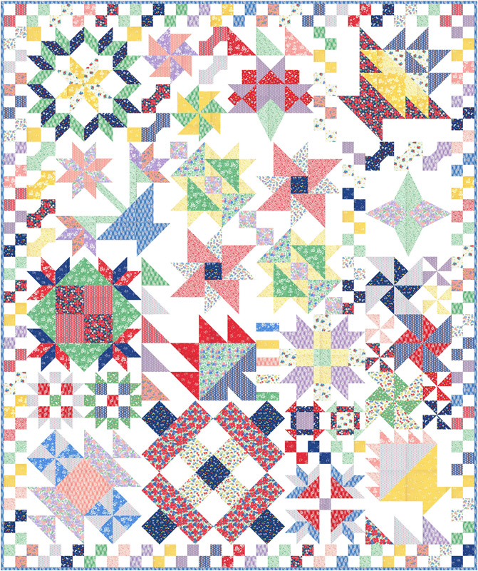 Moda Quilt Kit - 30's Playtime by Chloe's Closet