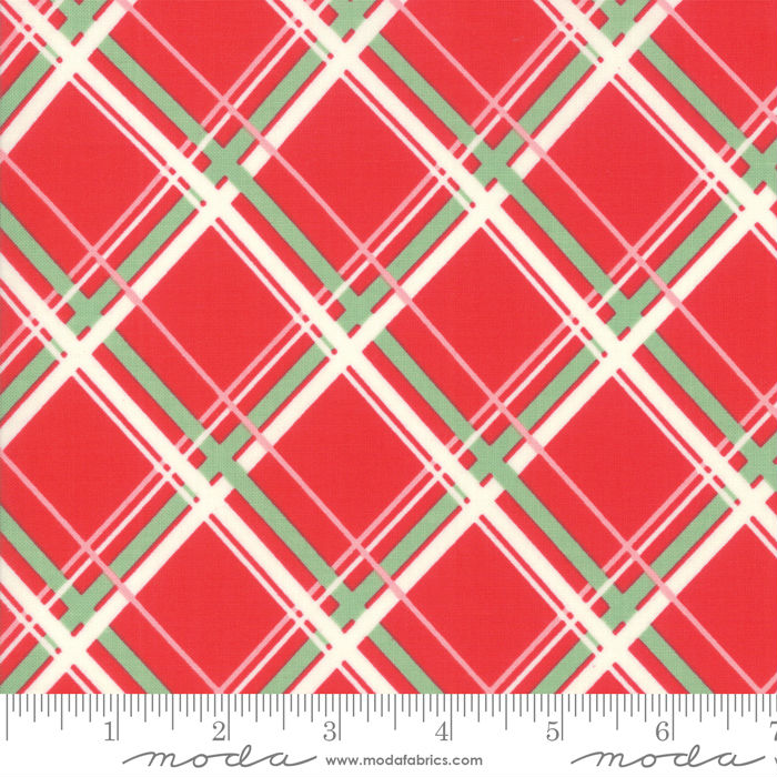 Moda Deer Christmas Peppermint 31162 12 Yardage