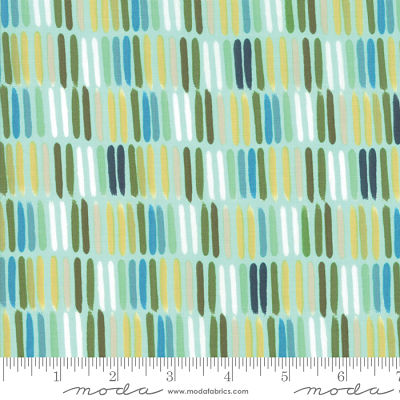 Moda Goldenrod Paintbrush Aqua 36052 13 Yardage