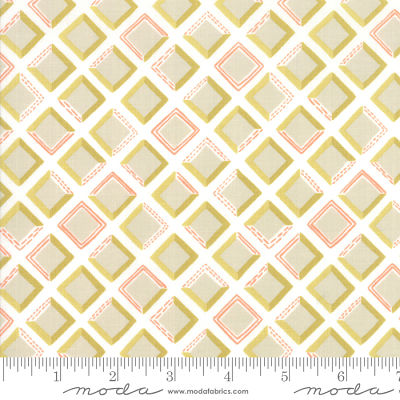 Moda Goldenrod Tiles Bisque White 36054 11 Yardage