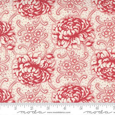 Moda Cranberries Cream Cream Cranber 44261 13 Yardage