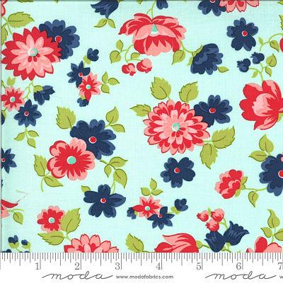 Moda Shine On Blossom Aqua 55211 13 Yardage