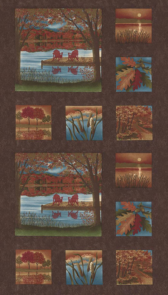Moda Autumn Reflections Panel 6710 18 Yardage