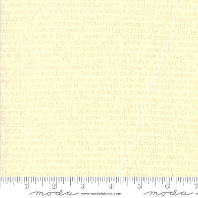 Moda Snowbound Snow Talk Snow 7021 18 Yardage