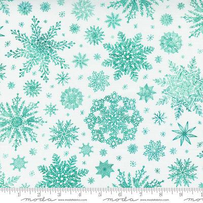 Moda Starflower Christmas White 8483 11 Yardage