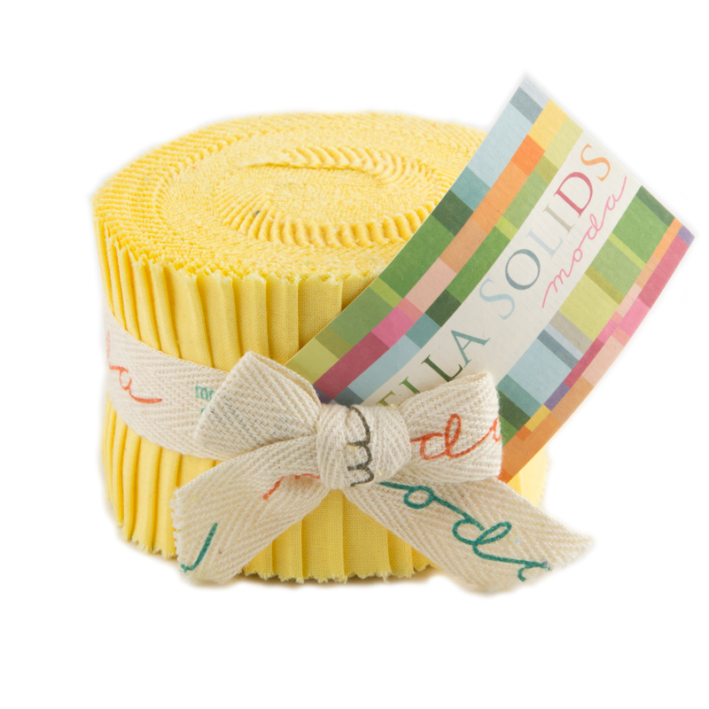Solids Junior Jelly Roll - 30's Yellow 9900 23