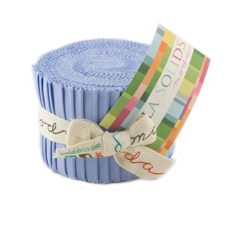 Solids Junior Jelly Roll - Baby Blue 9900-32