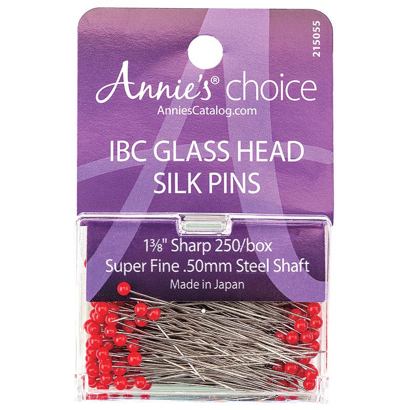 IBC Glass Head Silk Pins