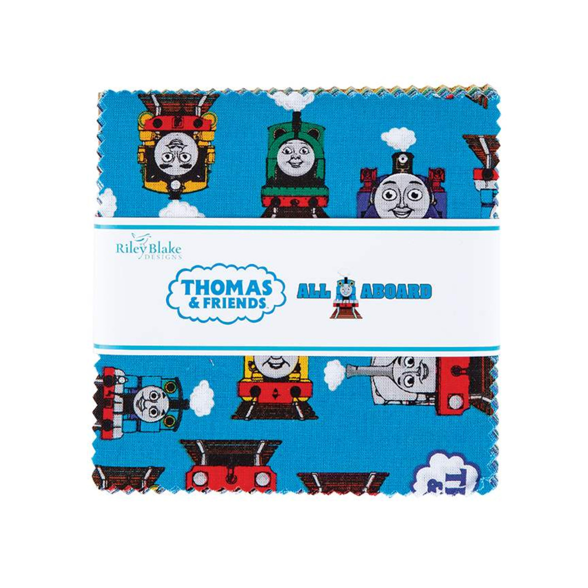Riley Blake Charm Pack - All Aboard with Thomas & Friends