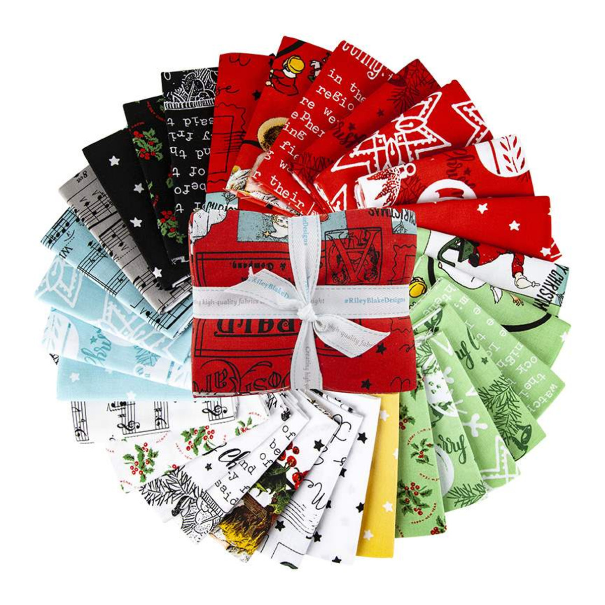 Riley Blake Fat Quarter Bundle - All About Christmas by J Wecker Frisch