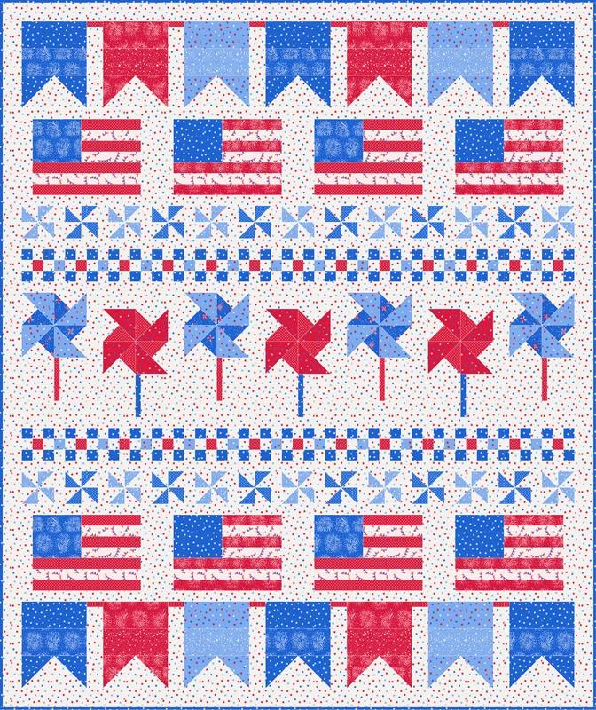 Moda Quilt Kit - Holiday Americana by Stacy Iest Hsu