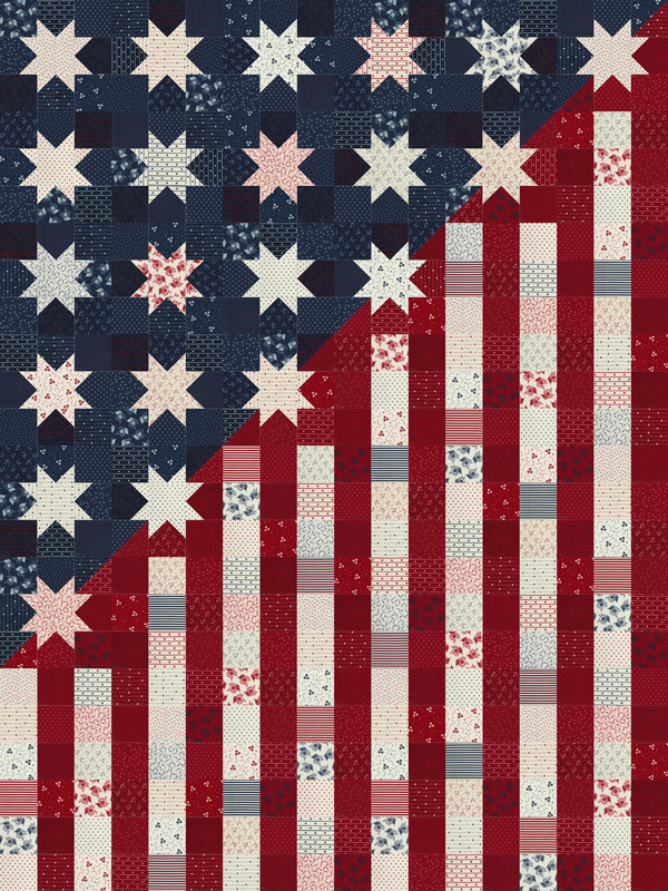 Moda Quilt Kit - American Gathering by Primitive Gatherings
