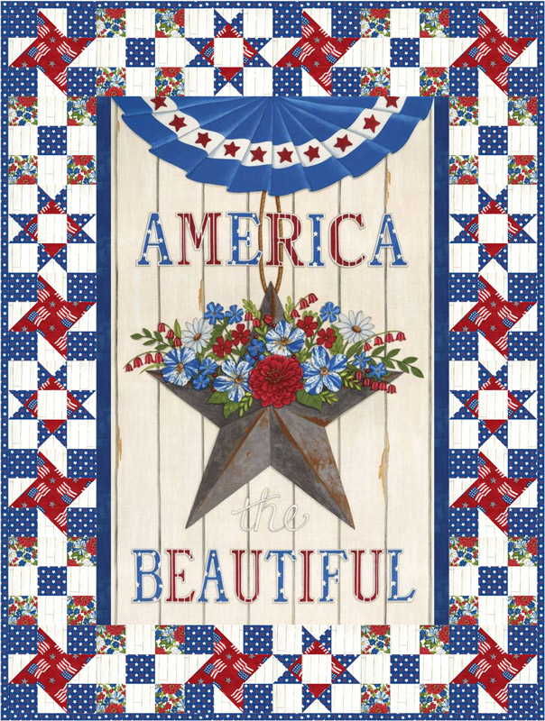 Moda Quilt Kit - America The Beautiful by Deb Strain