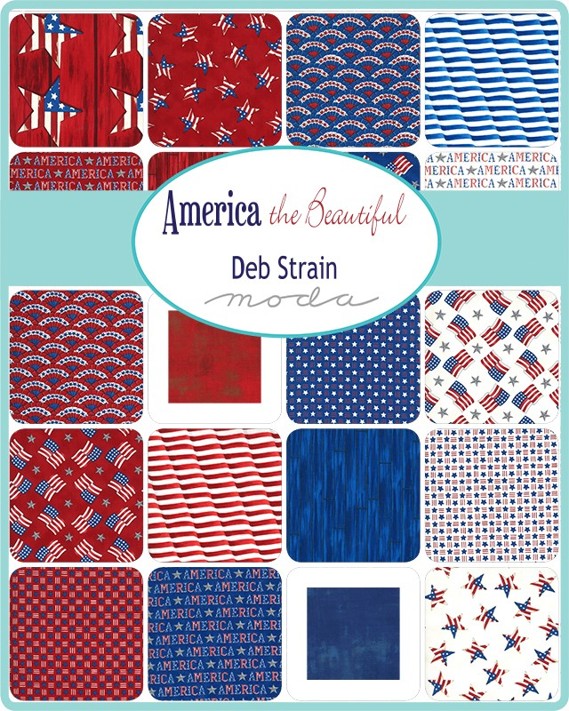 Moda Layer Cake - America The Beautiful by Deb Strain