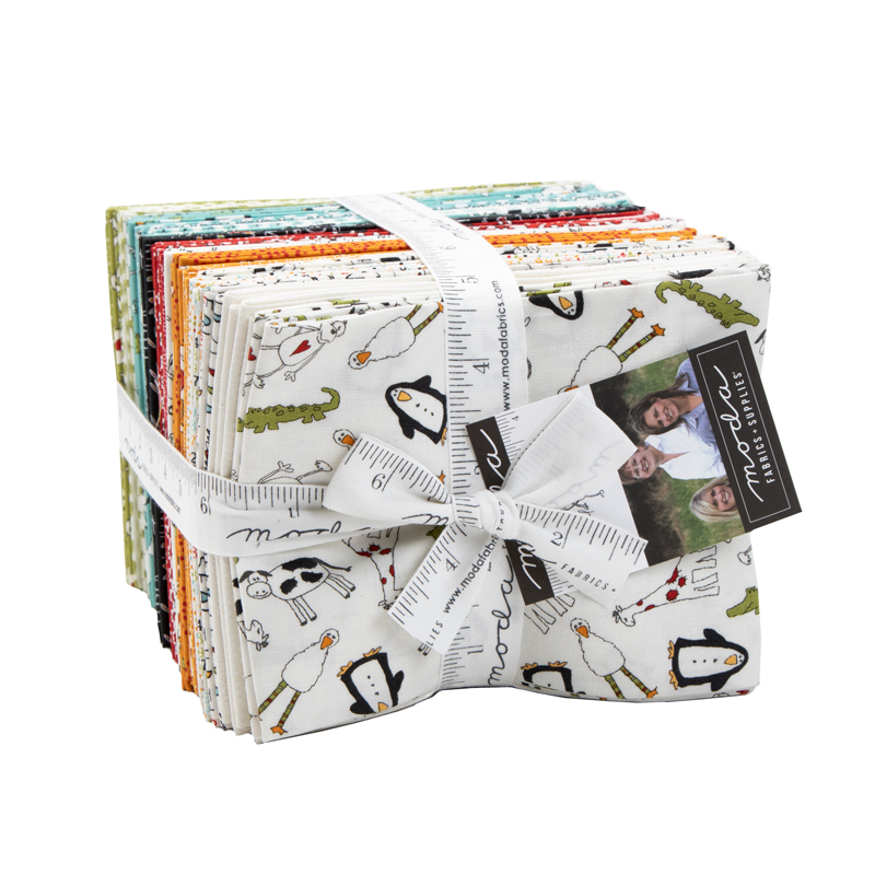 Moda Fat Quarter Bundle - Animal Crackers by Sweetwater