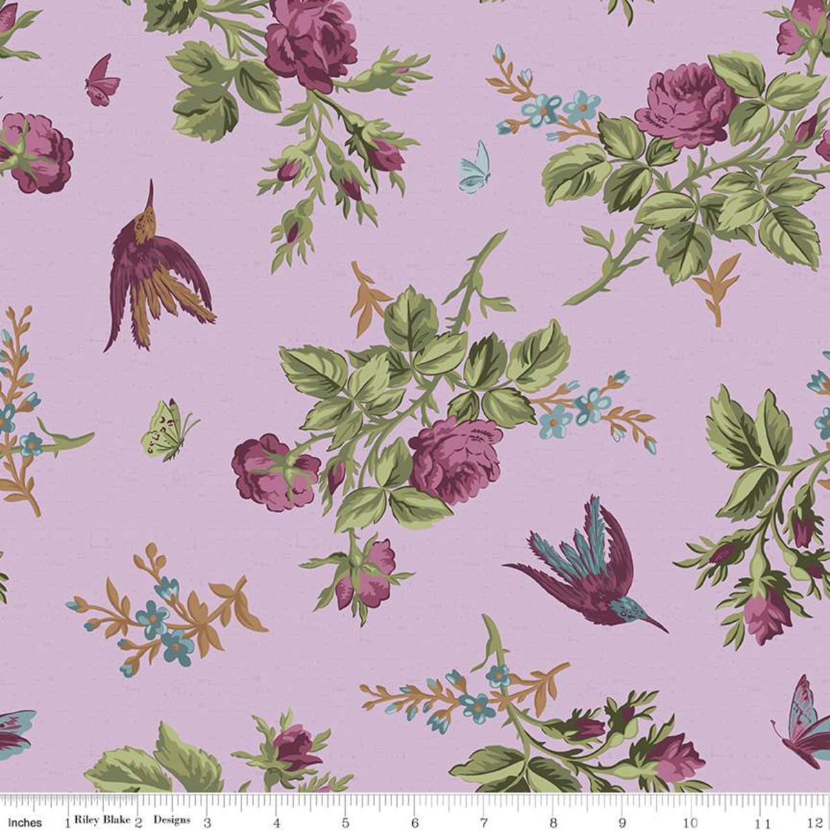 Riley Blake Anne of Green Gables Main Periwinkle Yardage