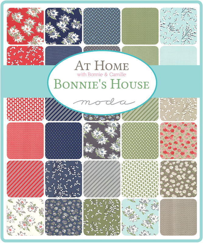 Moda Honey Bun - At Home RED by Bonnie & Camille