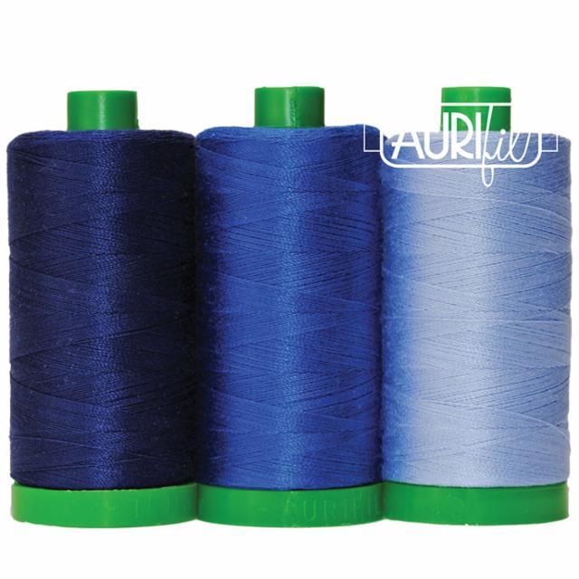Aurifil Color Builder 40wt Shark Blue