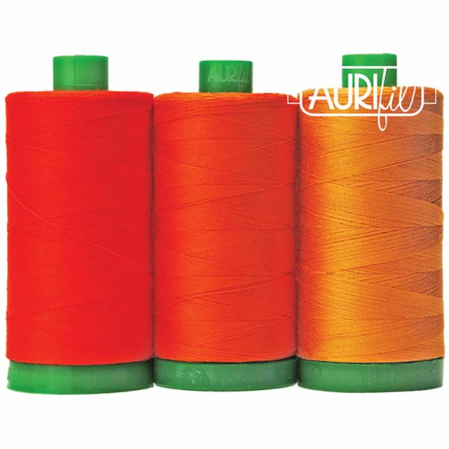 Aurifil Color Builder 40wt Tiger Orange
