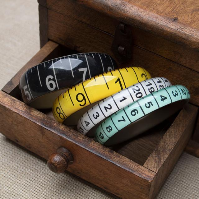 Bangle Tape Measure Yellow Bracelet