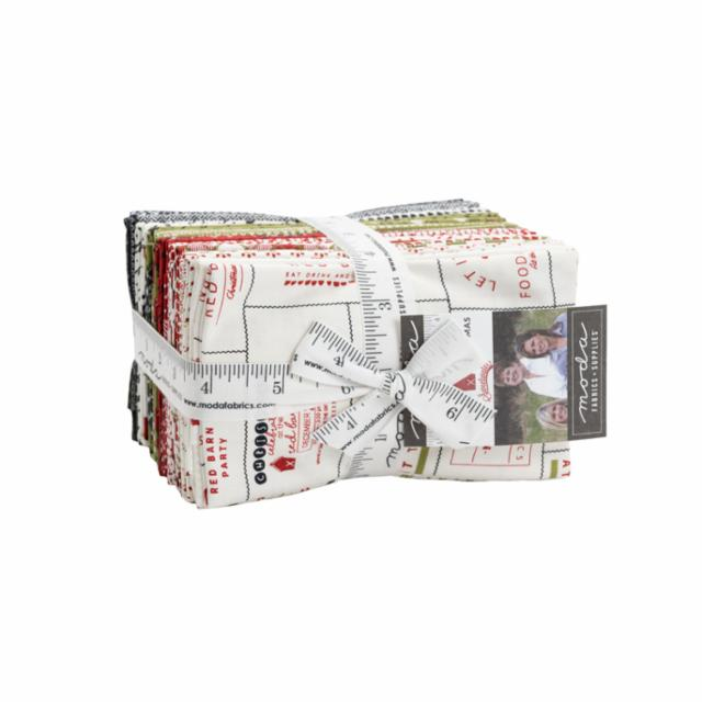 Moda Fat Eighth Bundle - Red Barn Christmas by Sweetwater