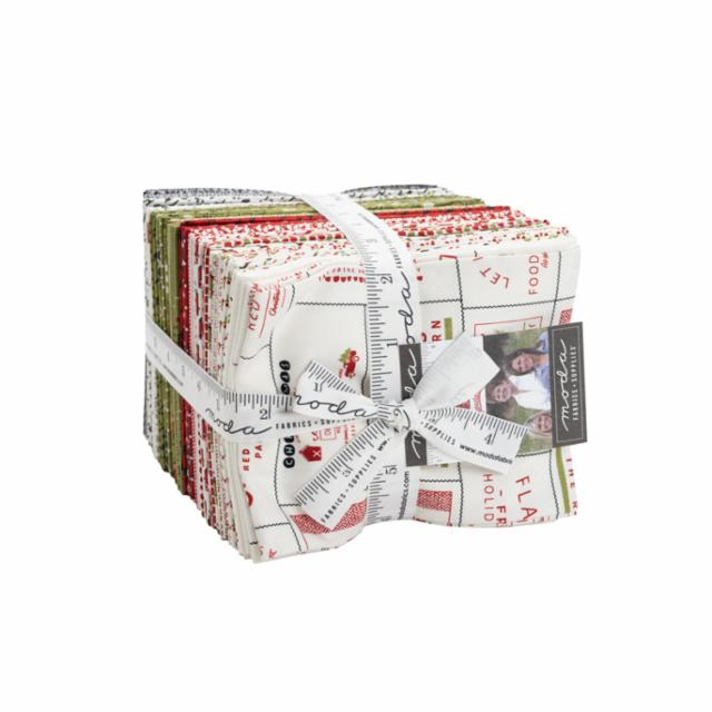 Moda Fat Quarter Bundle - Red Barn Christmas by Sweetwater