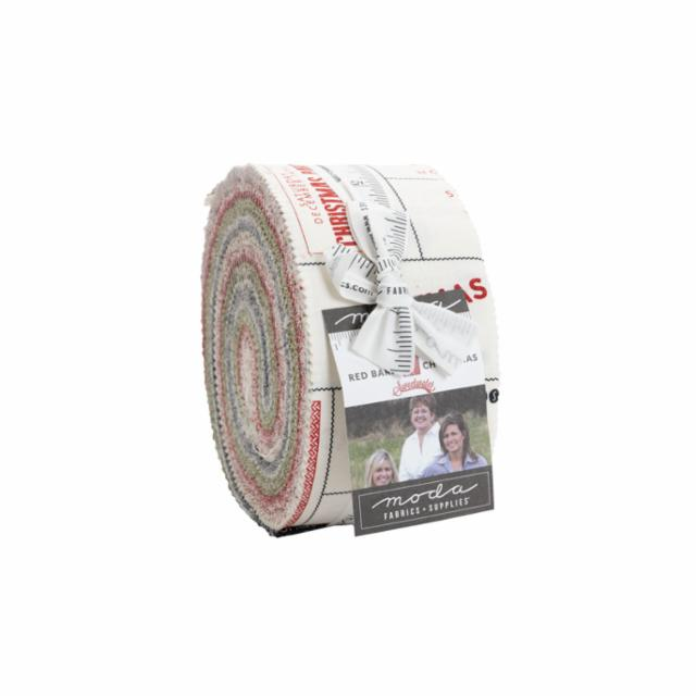 Moda Jelly Roll - Red Barn Christmas by Sweetwater