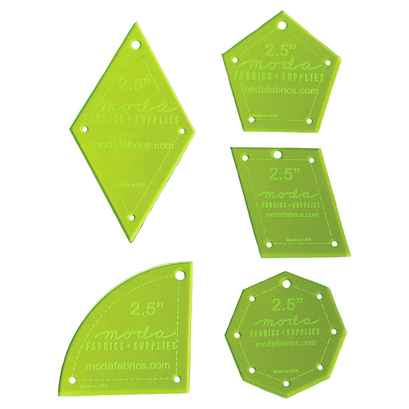 Basic 2.5 Inch Template 5ct Set