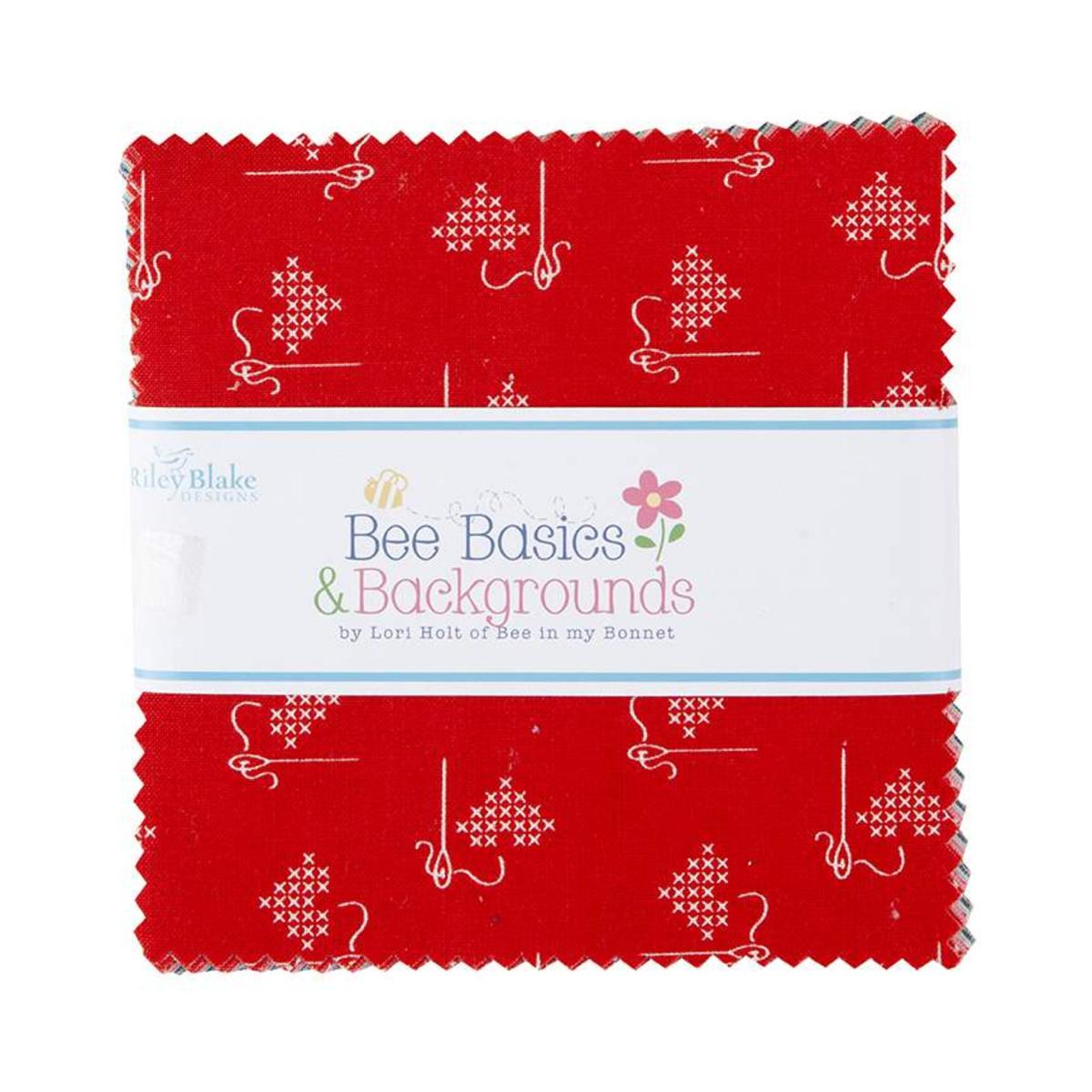 Riley Blake Charm Pack - Bee Basics RED by Lori Holt