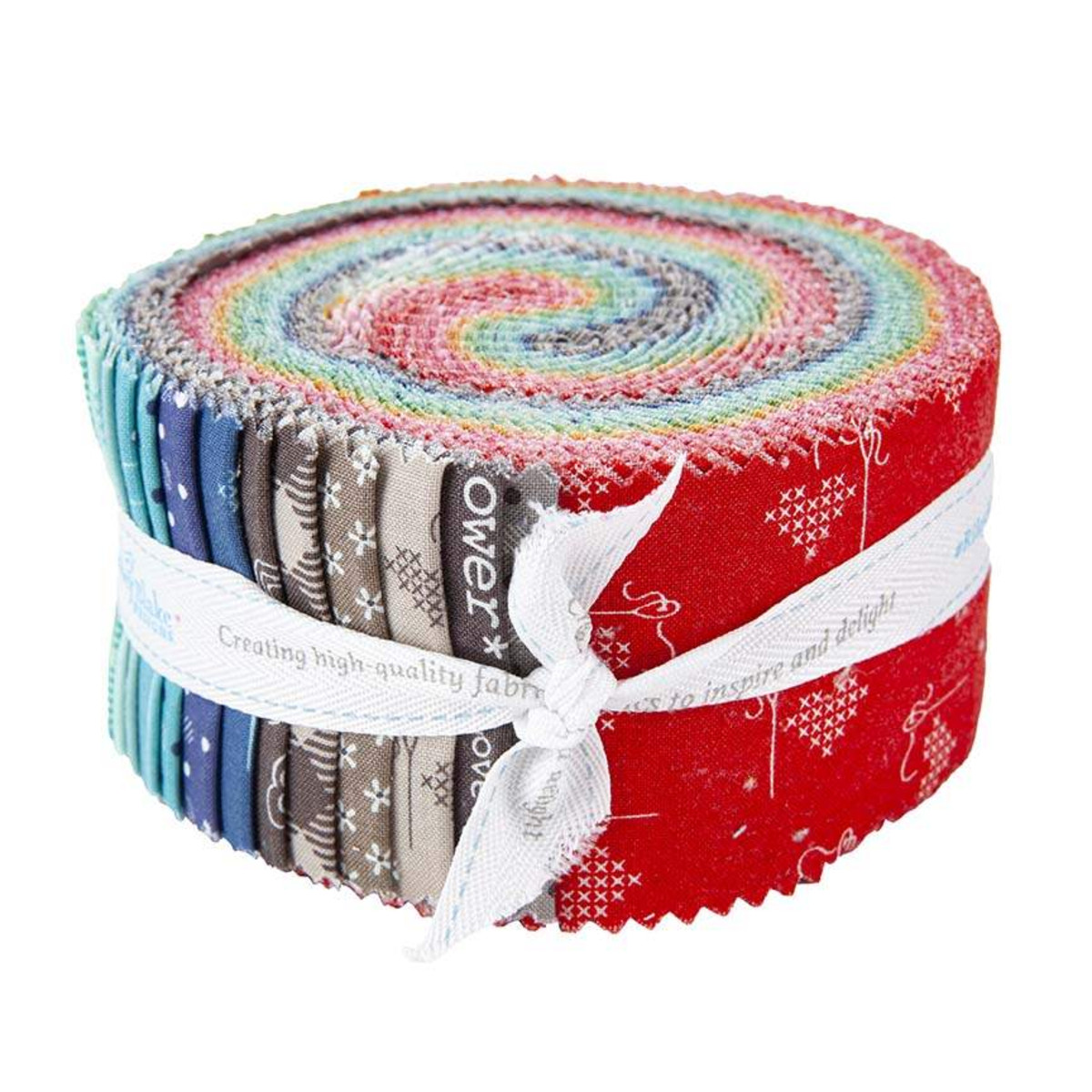 Riley Blake Jelly Roll - Bee Basics RED by Lori Holt
