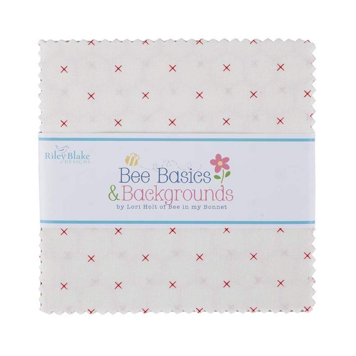 Riley Blake Charm Pack - Bee Basics WHITE by Lori Holt