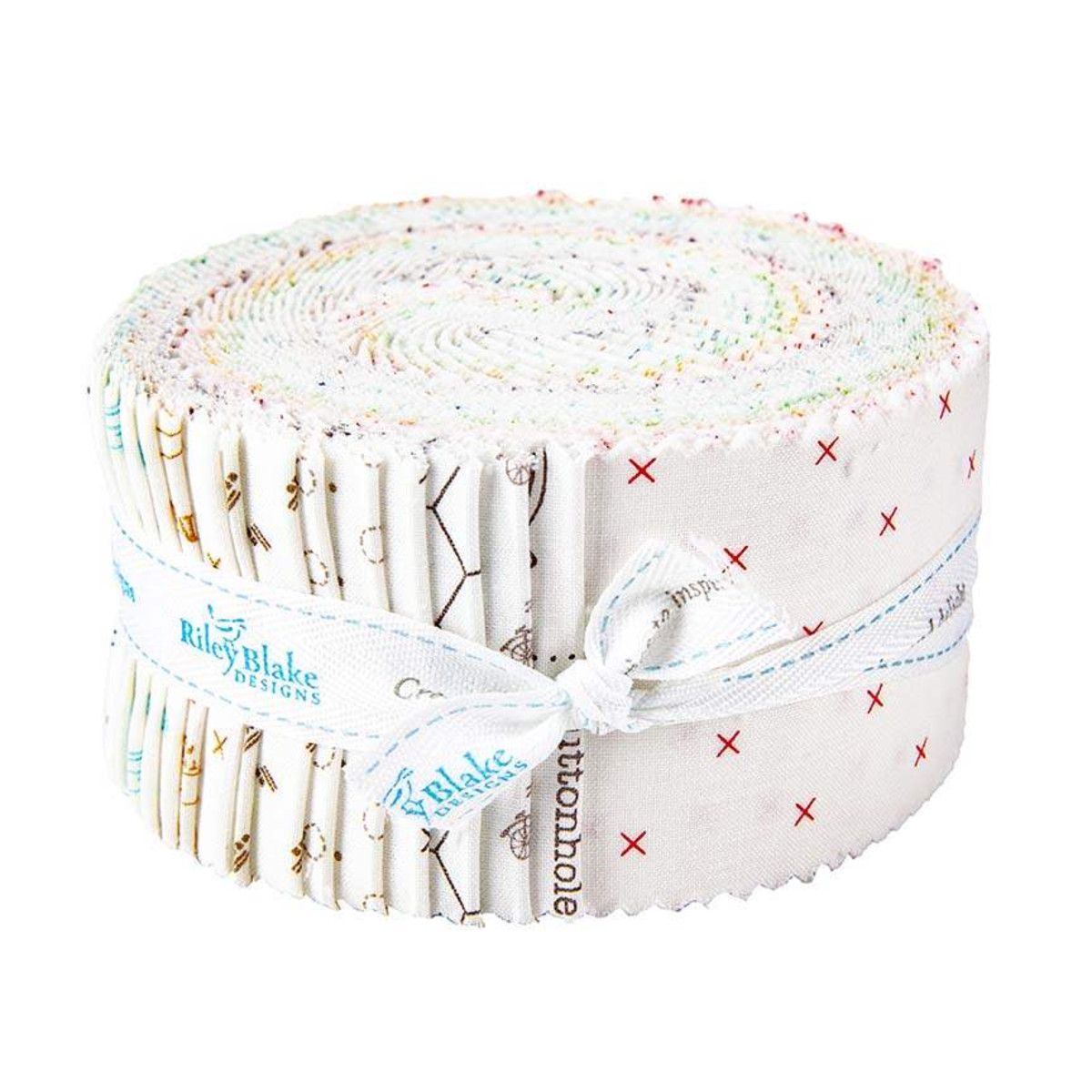 Riley Blake Jelly Roll - Bee Basics WHITE by Lori Holt