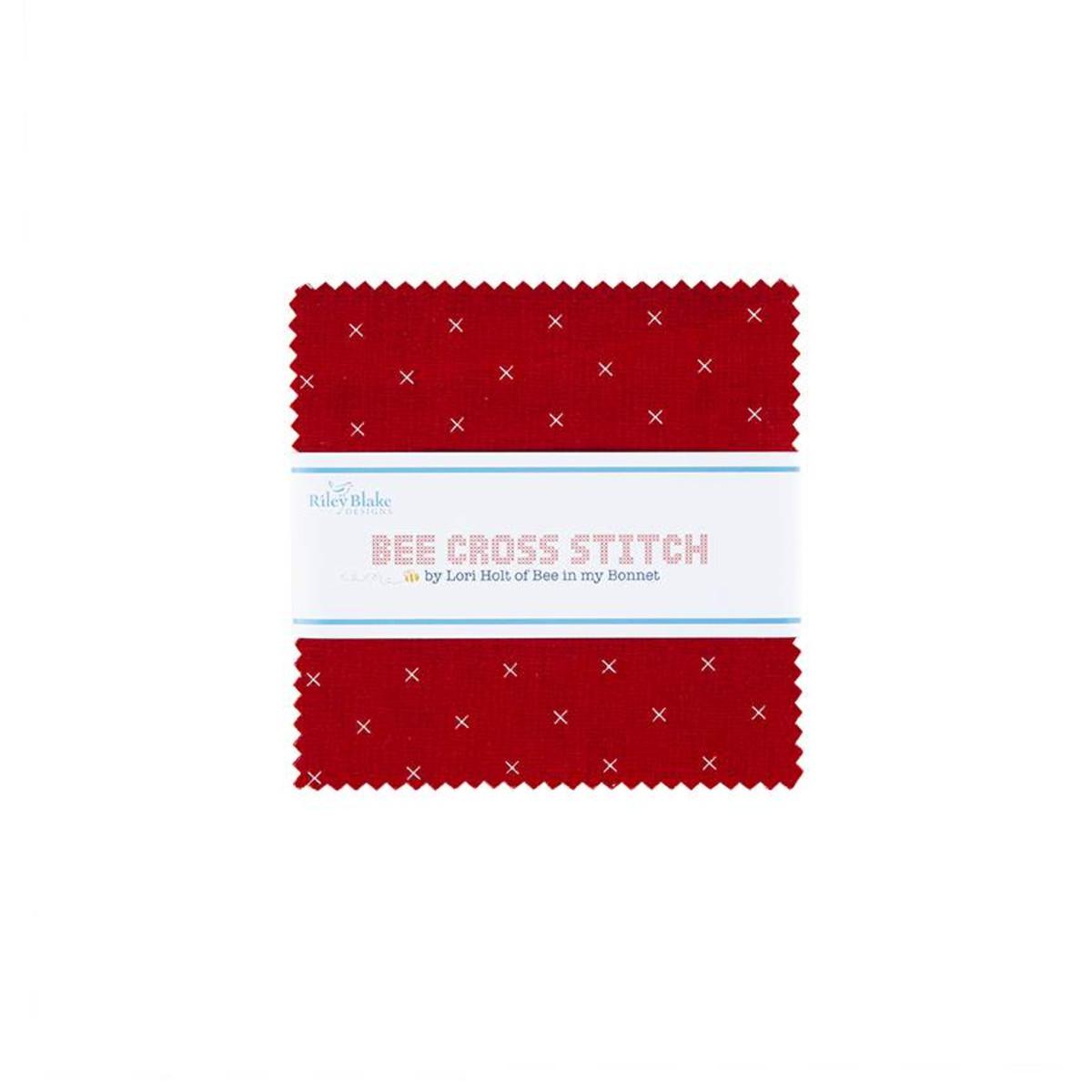 Riley Blake Charm Pack - Bee Cross Stitch by Lori Holt