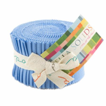 Solids Junior Jelly Roll - 30s Blue 9900 25
