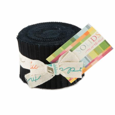 Solids Junior Jelly Roll - Black 9900 99