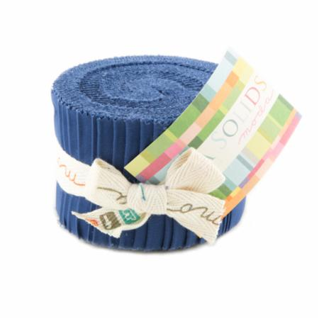 Solids Junior Jelly Roll - Blue 9900 48