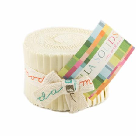 Solids Junior Jelly Roll - Fig Tree Cream 9900 67