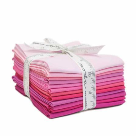 Moda Fat Quarter Bundle - Bella Solids Pinks
