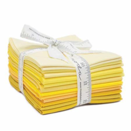 Moda Fat Quarter Bundle - Bella Solids Yellows