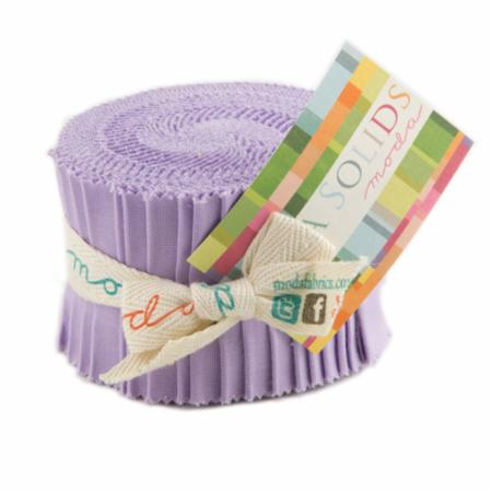 Solids Junior Jelly Roll - Lilac 9900 66